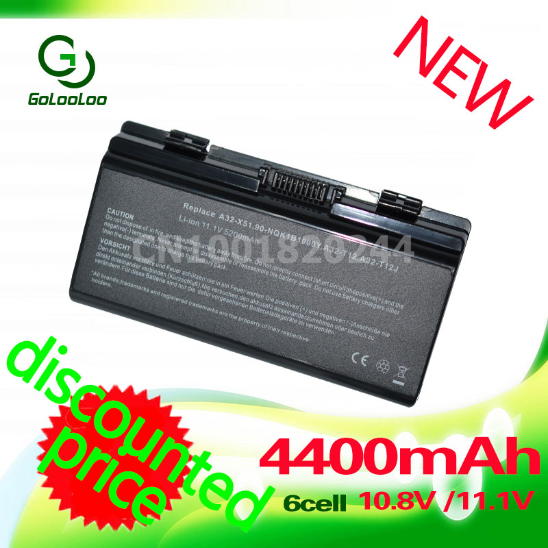 Golooloo laptop battery for Asus X58 X51L X58L T12 T12C T12Jg T12Er T12Fg T12Ug X51R X51H X51RL X58C A31-T12 A32-T12 A32-X51Golooloo laptop battery for Asus X58 X51L X58L T12 T12C T12Jg T12Er T12Fg T12Ug X51R X51H X51RL X58C A31-T12 A32-T12 A32-X51