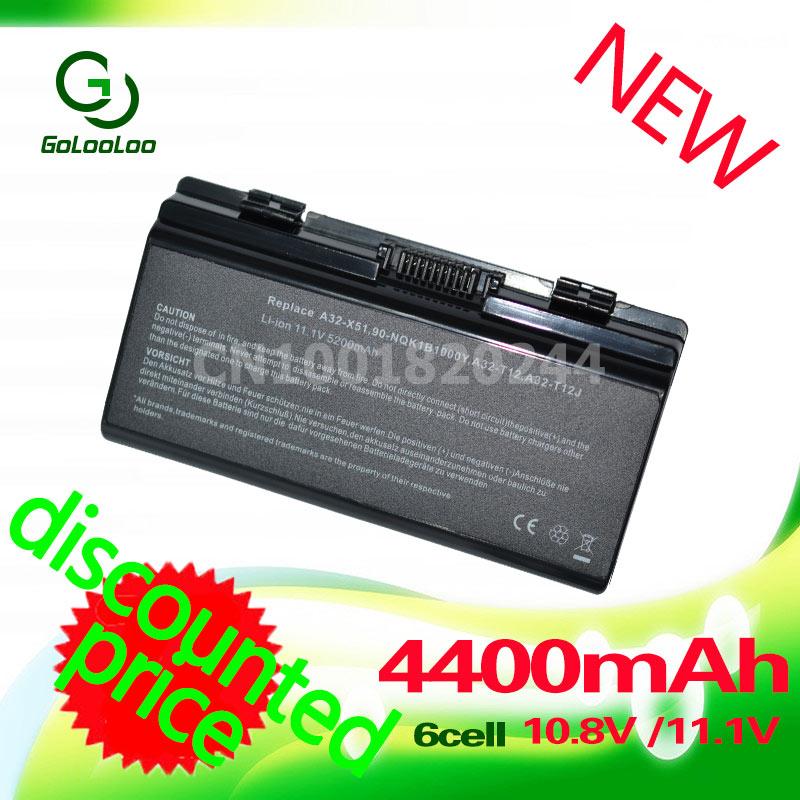 סוללה למחשב נייד GOLILO עבור X58 X51L X58L T12 T12C T12JG T12Eg T12Fg T12Ug X51R X51H X51RL X58C A31-T12 A32-T12 A32-X51