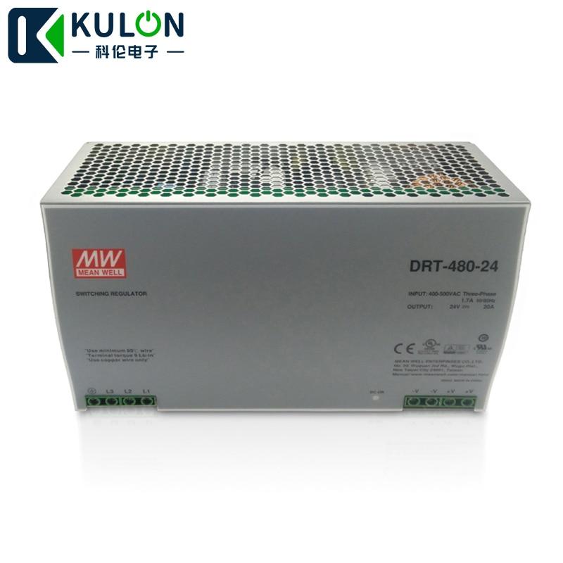 drt 480 24 блок питания - Original Meanwell DRT-480-24 480W 20A 24V mean well three phase Industrial DIN Rail Power Supply