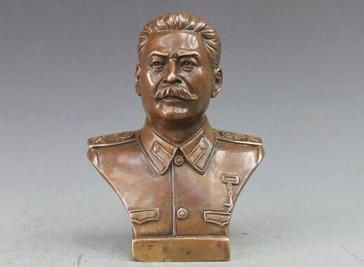 OTTONE Rame Politico Joseph Stalin Busto Vissarionovich occidentale Art Statua di Rame decorazione del giardinoOTTONE Rame Politico Joseph Stalin Busto Vissarionovich occidentale Art Statua di Rame decorazione del giardino