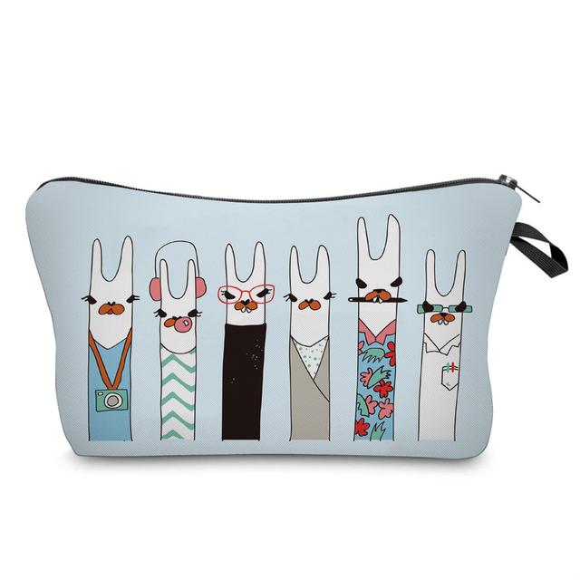 """Llama """"Squad-Goals"""" Cosmetic Bag"""