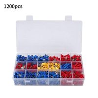 1200 Pcs/Set 18 Types Red/Blue/Yellow Crimp Terminals Assortment Lugs Cable Wire Connector For Automobile Application