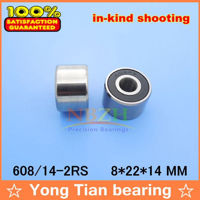 Подробнее о High-speed widened bearing 608-14-2RS W608RS textured twister special 408RS 8*22*14 mm (Double row ball) bosch 400мм speed 2 608 690 167