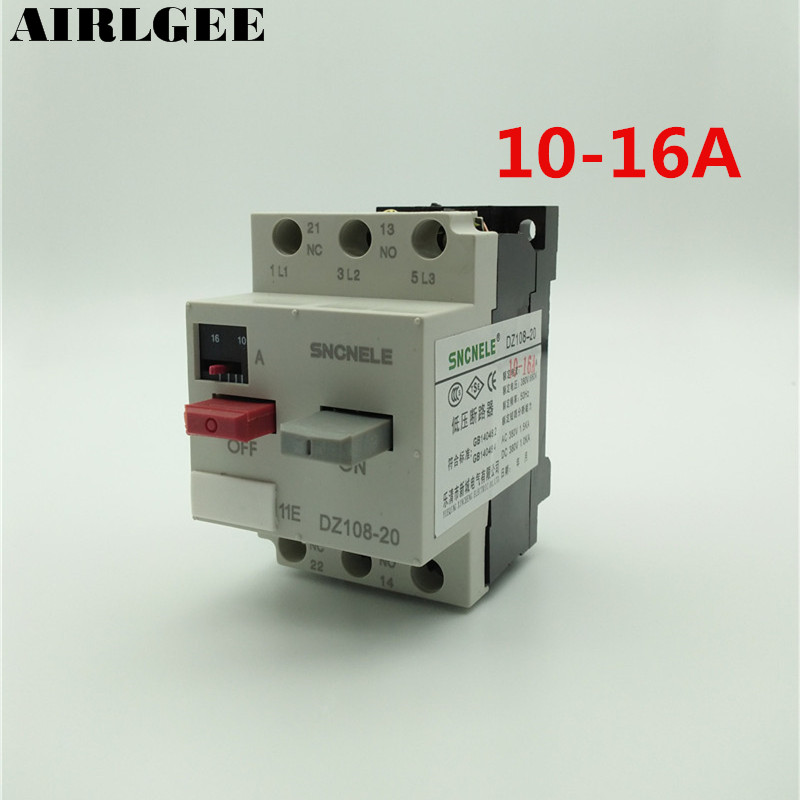 10-16A 1NO 1NC Moulded Case Motor Protection Circuit Breaker