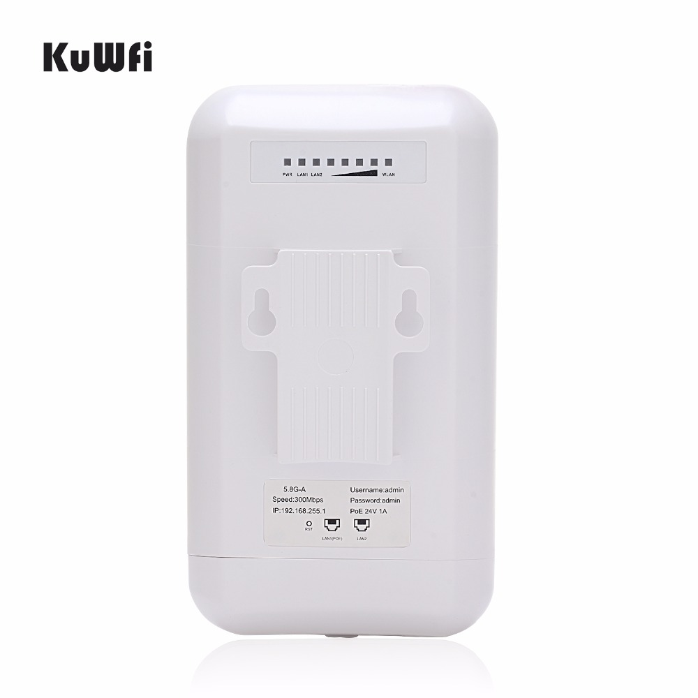 Image 5 - KuWFi 300Mbps 2PCS 1 3KM Outdoor CPE Router 5G Wireless Access Point Router Wifi Bridge Wi fi Extender CPE Router With 24V POE-in Wireless Routers from Computer & Office
