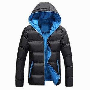 Image 2 - Bolubao casaco masculino moderno e casual, jaqueta masculina, cor sólida, simples, com capuz, moda de inverno
