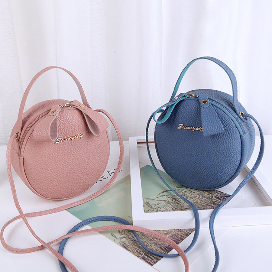 Designer Crossbody Bag For Women Top Handle Women's Handbag PU Leather Small Round Bags Dinner Clutch Purse Bolso Femenino 2019