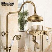 Bathroom wall antique shower set faucet mixer bathroom shower kit control with buttons bath shower set shower