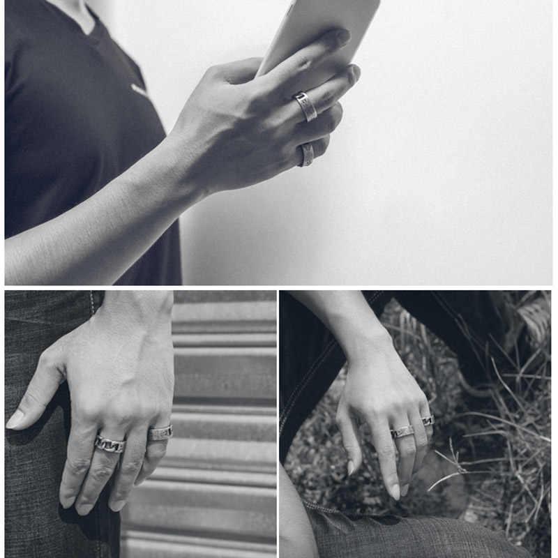 Beier Moda in acciaio inox 2018new 1314 anello di Torsione counple Retro monili di Cerimonia Nuziale di trasporto libero per l'uomo le donne Lover regalo dropshippingBR8-594