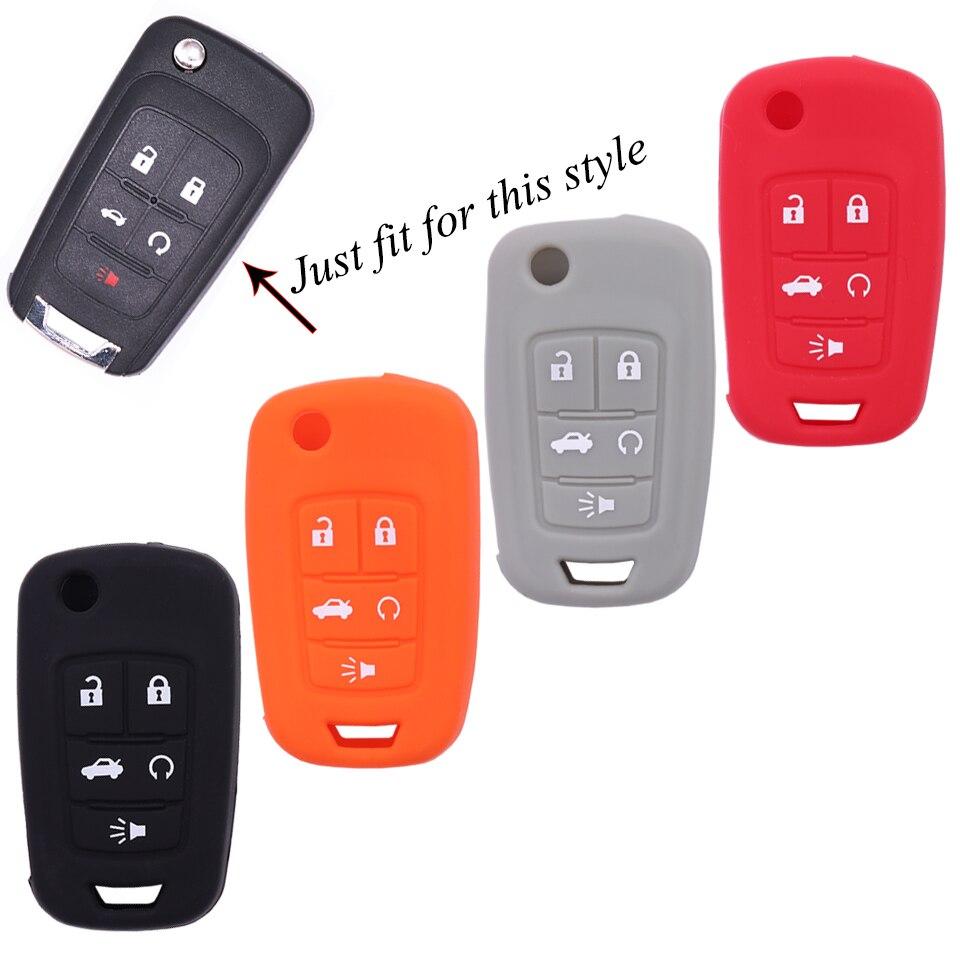 4 Kleuren Silicone Auto Sleutel Cover Case Voor Buick Lacrosse Excelle Verano Crosse Regal Voor Chevrolet Cruze Camaro Voor Opel
