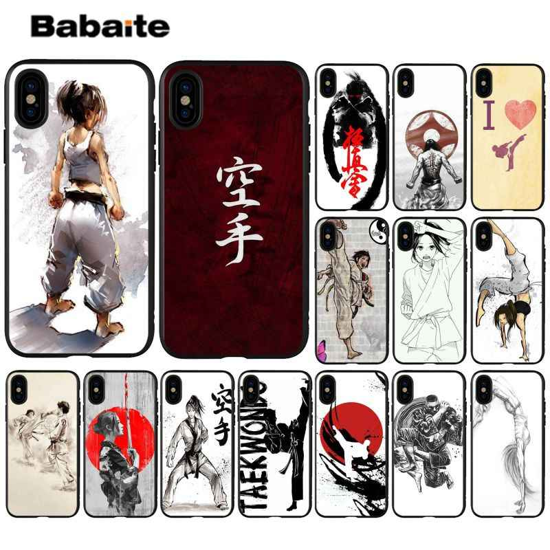 Babaite Oyama Kyokushin Karate Telepon 11 High-End Aksesoris Case untuk iPhone 5 5S 6 6 S 7 7 Plus 8 8 PLUS Xrx X Max Case