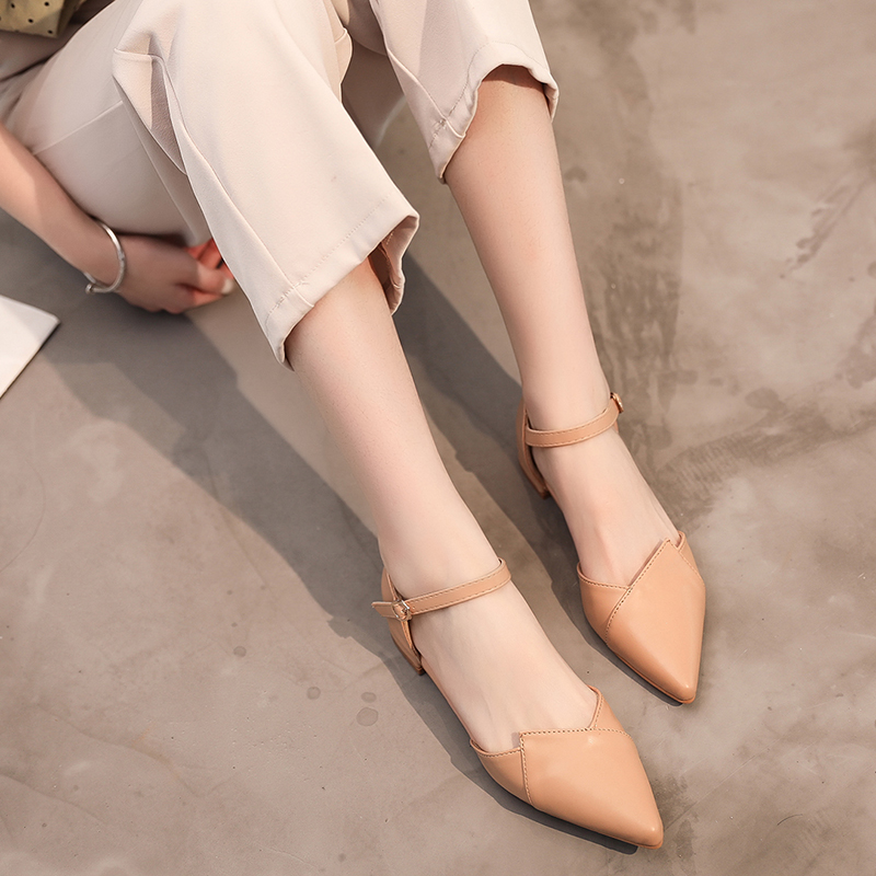 Women 39 s Pointed Low heeled Shoes Sexy Slip On Shoes For Women Summer Autumn Flats Shoes 2019 ballerine femme chaussures femme in Women 39 s Flats from Shoes