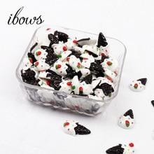 10pcs Miniature Kawaii Hot Selling Ice Cream, Resin Flat back Cabochons for Phone Decoration, Scrapbooking, DIY Hairbow Material недорого