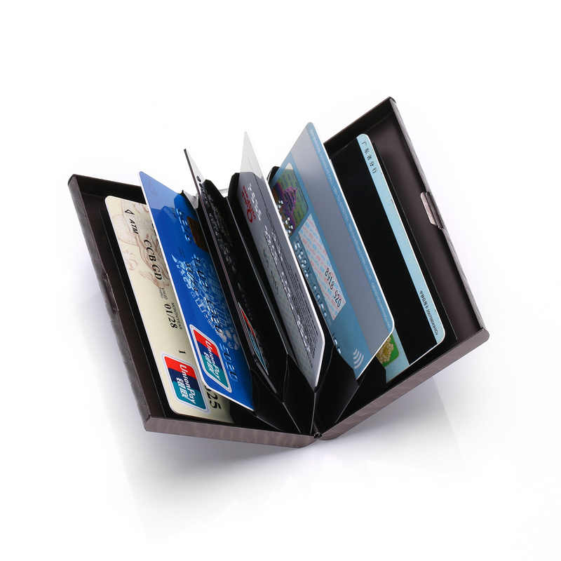 BYCOBECY  New Wallet for Men and Women Metal Plastic Card Holder Travel Wallet Passport Holder Document Organizer money clip
