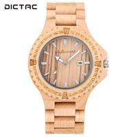 Red Sandalwood Quartz Watch WristWatches Fashion Man Men'S Watches Business Digital Dial Decorative Round Watch