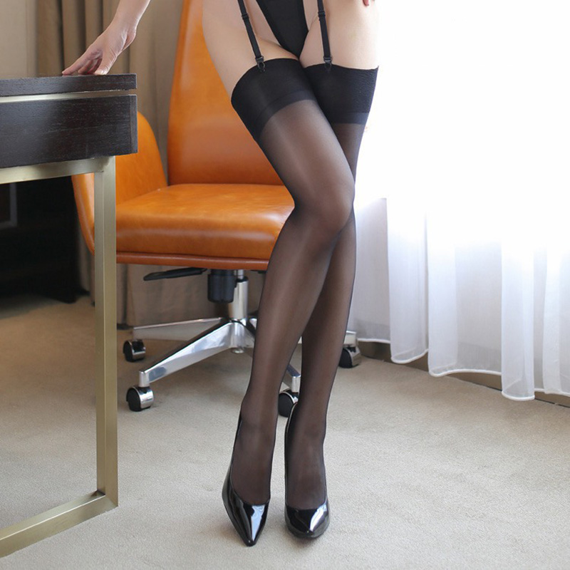 <font><b>2018</b></font> Women Smooth Vintage Nylon Stockings Thigh High Long <font><b>Top</b></font> Stockings Female Tansparent <font><b>Sexy</b></font> Lingerie Ladies Medias Hosiery image