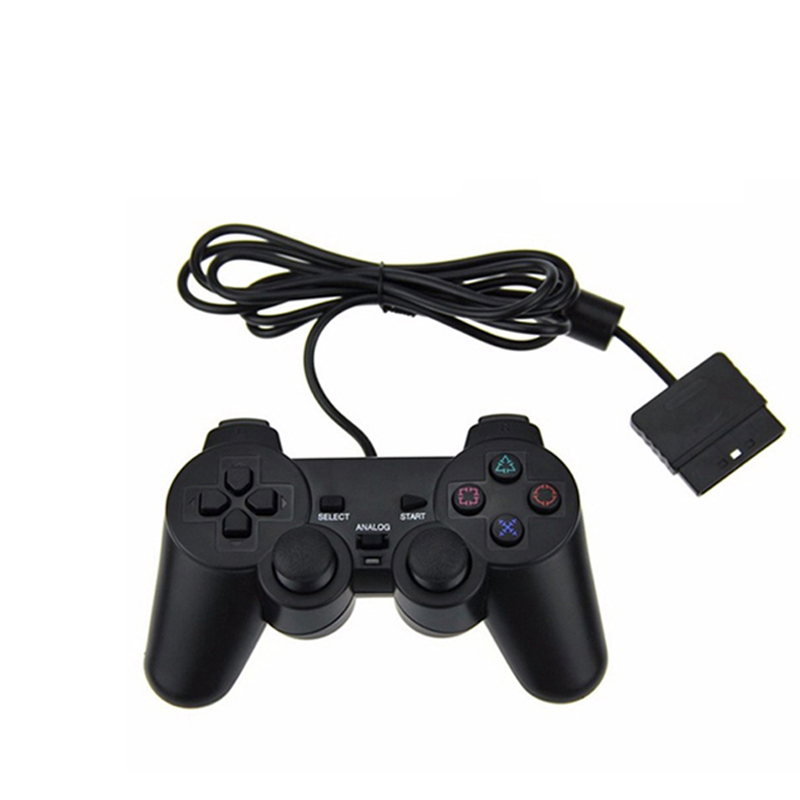 For PS2 Wired Controller Gamepad Manette For Playstation Dualshock 2 Kontroll Mano Joystick For Playstation 2 Konsoll Tilbehør