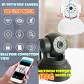 High resolution two Wifi cables wireless Cloud Alarm Smart Home p2p IP Camera mega 1.0m hd len sd card audio pt alarm ir led
