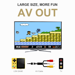 Image 4 - DATA FROG Classic Mini Handheld Game Console Portable LDK Game Family TV Video Console 2.6Inch Support TF Card Gift for Children