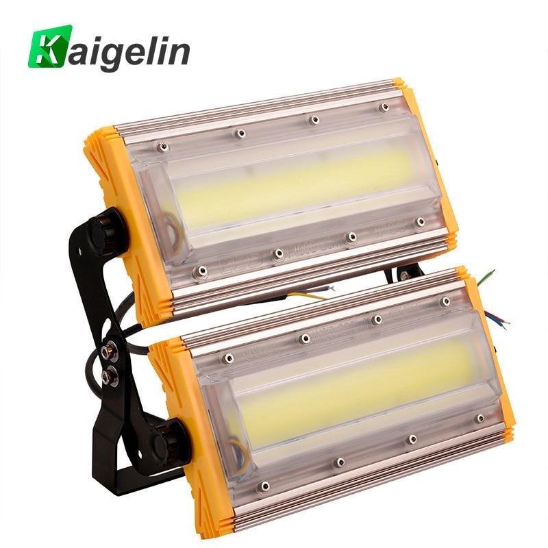купить 10 PCS Kaigelin 100W COB LED Flood Light 8000LM IP65 Waterproof LED Floodlight Outdoor Lighting LED Spotlight Garden Wall Lamp по цене 22846.48 рублей