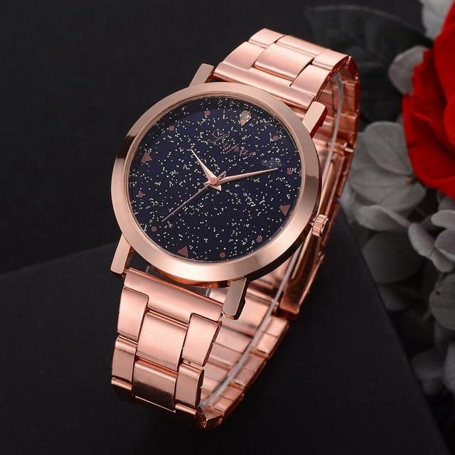 Women Dress Watches Rose Gold Stainless Steel Lvpai Brand Fashion Ladies Wristwatch Creative Quartz Clock Cheap Luxury Watches 3