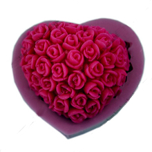 Rose Flower Silicone Soap Mold 3D Handmade Resin Craft Chocolate Candy Mould Kicchen Cake Baking Tools