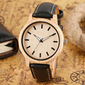 Homens Relógios Preto Genuíno Relógio De Couro de Madeira de Bambu Natural Relógio de Pulso Casual Sports relógios de Pulso Das Mulheres Venda Online