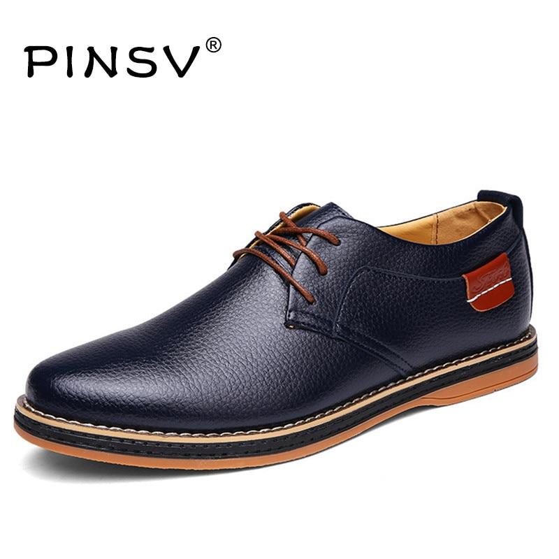 Мужские туфли на плоской подошве Элитный бренд PU Обувь кожаная для девочек Для мужчин черная обувь на плоской подошве туфли-оксфорды для му…