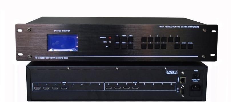 Angemessen 8*4 Hdmi Matrix Switch Switcher Hdcp 1080 P 3d 4 K Edid Video Display Auto Loop Rs232 Ir Fernbedienung Szenen Plan Gut FüR Antipyretika Und Hals-Schnuller Kvm-switches Computer & Büro