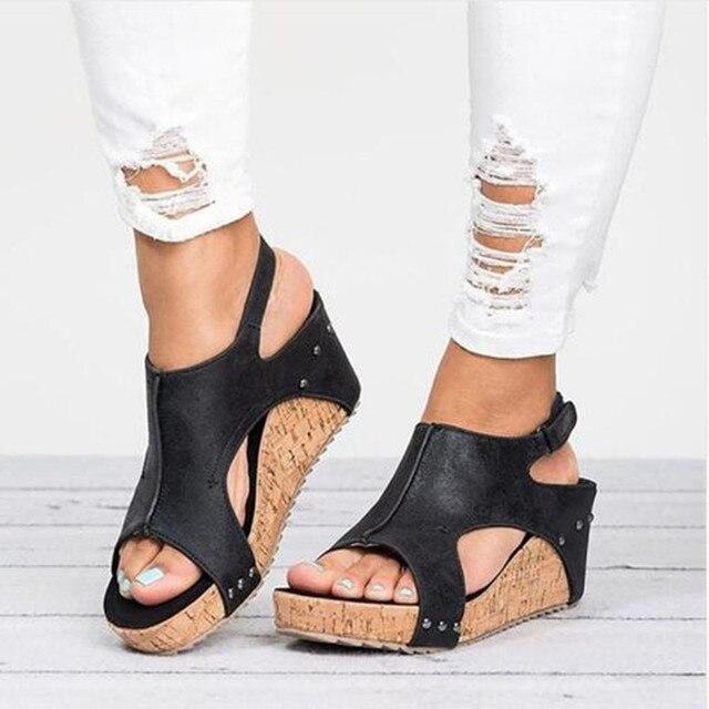 cb4024b5 Sandalias retro vintage para mujer con tacón alto grueso para mujer, zapatos  de punta abierta