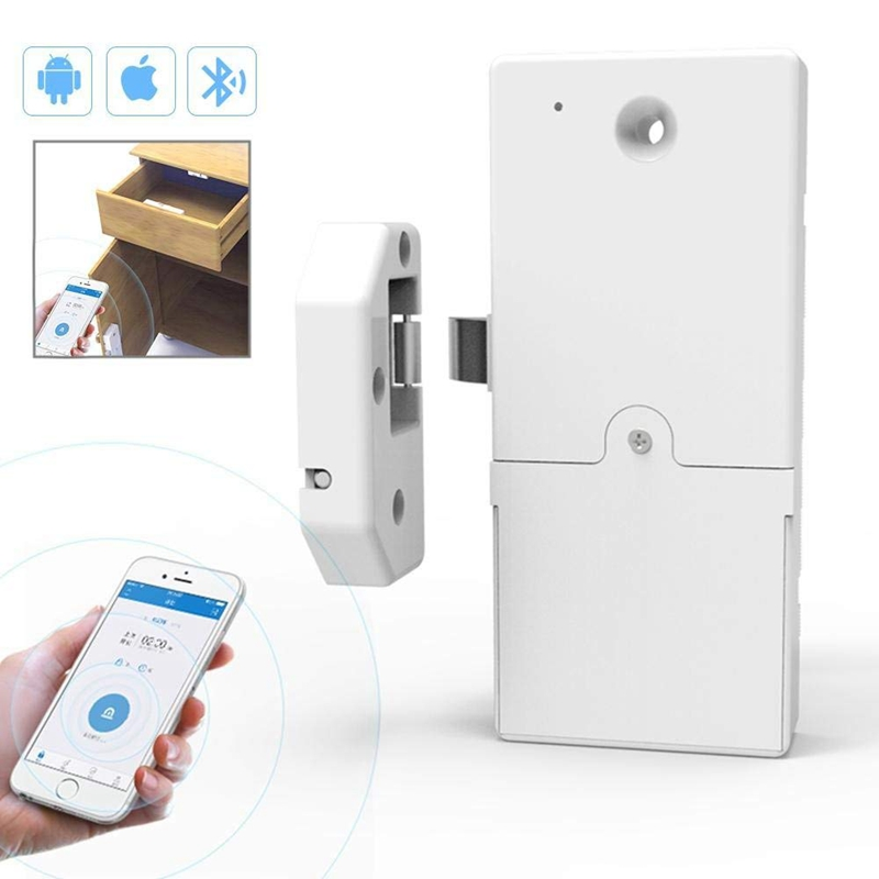 US $32 89 |Keyless Cabinet Smart Lock Wireless Bluetooth Invisible Anti  Theft Free Punch Security Control Via IOS/Android APP-in Locks from Home