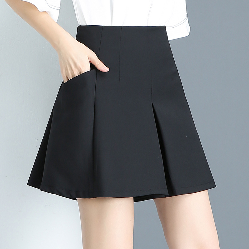 White Black Summer Women Loose Shorts 2018 New Fashion Slim High Waist Shorts Skirt Casual Solid Female Shorts Plus Size 4XL