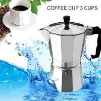 Moka Espresso Coffee Maker Moka Percolator Pot 3 Cup 6 Cup Aluminum 8 Angle Moka Pot