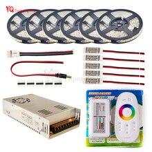 LED Şerit set 10 m 20 m 30 m 12 V RGB RGBW Su Geçirmez 5050 esnek 300LED şerit 5 m IP65 diyot bant LED Halat Şeritler Amplifikatör kiti