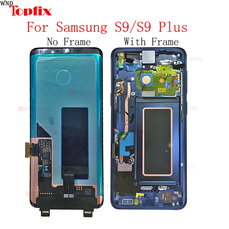 In Stock Super AMOLED For Samsung Galaxy S9S9 Plus G960F G965F LCD Touch Screen Digitizer Assembly With Frame Replacement Parts (7)