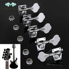 Set of 4R1L Chrome Guitar Tuner Tuning Peg Machine Head For 5 String Jazz P Bass