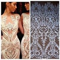 Beautiful Large Pattern Off White Rayon Lace Fabric 51 Width 1 Yard