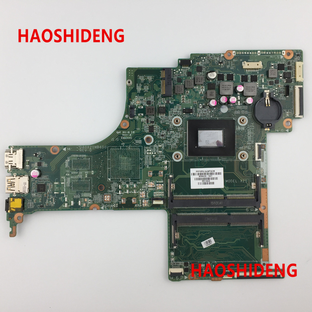Free Shipping,809400-501 DA0X21MB6D0 X21 for HP Pavilion Notebook 17-G series  motherboard with A10-8700P CPU.All fully Tested! 574680 001 1gb system board fit hp pavilion dv7 3089nr dv7 3000 series notebook pc motherboard 100% working