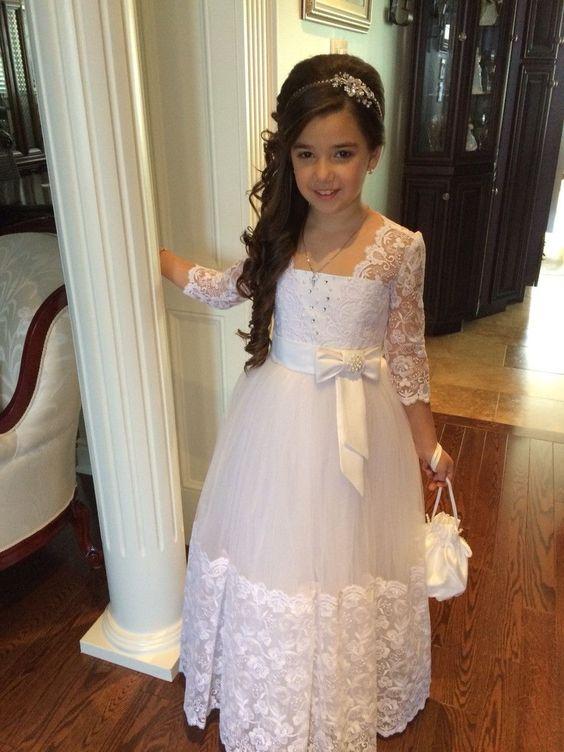 Online Kaufen Großhandel Mädchen Erstkommunion Kleid Aus