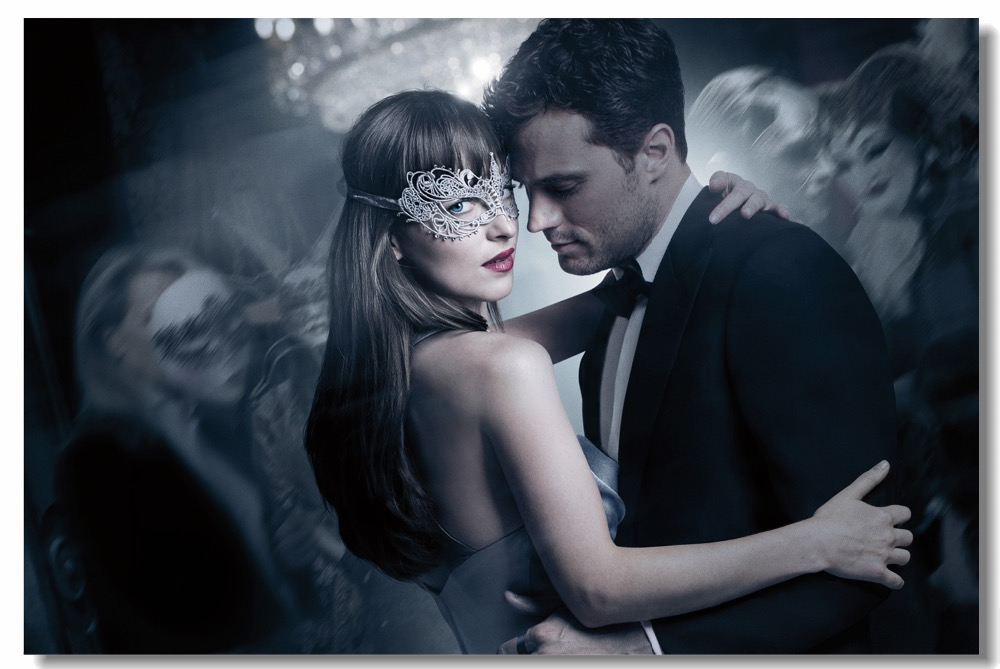 Us 559 30 Offcustom Canvas Wall Decor Fifty Shades Freed Poster Fifty Shades Darker Wallpaper Dakota Johnson Jamie Dornan Wall Sticker 0838 In