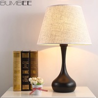 American Simple Table Lamp Nordic Hotel Bedroom Bedside Lights Simple Modern Iron Art Decorative Living Room Home Decor Thailand