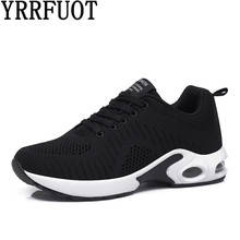 YRRFUOT Fashion Sneakers For Women Breathable Lace-up Flyknit Woman Trend Shoes Zapatillas Hombre Moda Mujer 2019 Casual Shoes