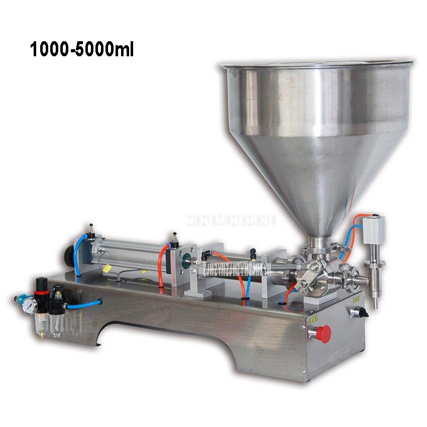 G1WG 1000-5000ml Pneumatische Enkele Kop Pasta Vulmachine Vloeistof Vulmachine Crème Nagellak Saus Jam Fles filler