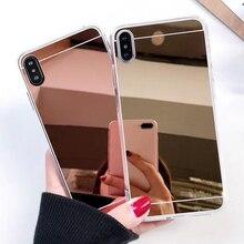 Модный роскошный зеркальный чехол цвета розовое золото для Xiaomi redmi Примечание 5A задняя крышка для redmi Note 5A Pro Prime note 3 4 redmi 5 plus
