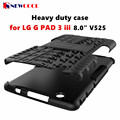 For LG G Pad 3 iii 8.0 V525 V522 V521WG (Gpad III / Gpad X) Tablet Case TPU+PC Heavy Duty Armor Case Hybrid Rugged Rubber