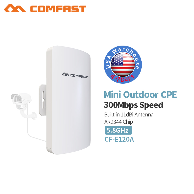 11ac 5GHz 300Mbps 3KM Outdoor CPE Wireless WiFi Repeater Router Extender AP Access Point WiFi Bridge 11dBi Antenna POE Adapter outdoor cpe 5 8g wifi router 200mw 1 3km 300mbps wireless access point cpe wifi router with 48v poe adapter wifi bridge cf e312a