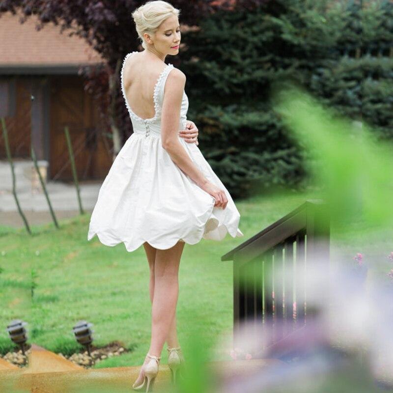 c21b1c21d396c Aliexpress.com : Buy Romantic Open Back Short Evening Dress Cheap Middle  East Russia Free Shipping Vestido De Noiva Lovely White Formal Gown Dresses  ...