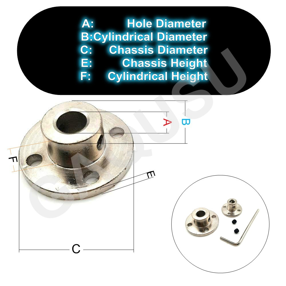 3-14mm Rigid Flange Coupling Motor Guide Shaft Coupler Motor Connector US
