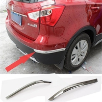 CAR STYLING ACCESSORIES FIT FOR 2014 SUZUKI SX4 S CROSS ABS CHROME REAR BUMPER CORNER PROTECTOR COVER GARNISH CAR ACCRESSORIES