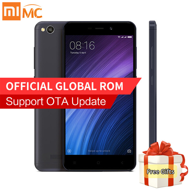 """Оригинальный Xiaomi Redmi 4A 4 мобильный телефон 2 ГБ 16 ГБ или 32 ГБ Snapdragon 425 Quad Core 5.0 """"HD дисплей 4 г FDD LTE 13.0MP MIUI 8.1"""